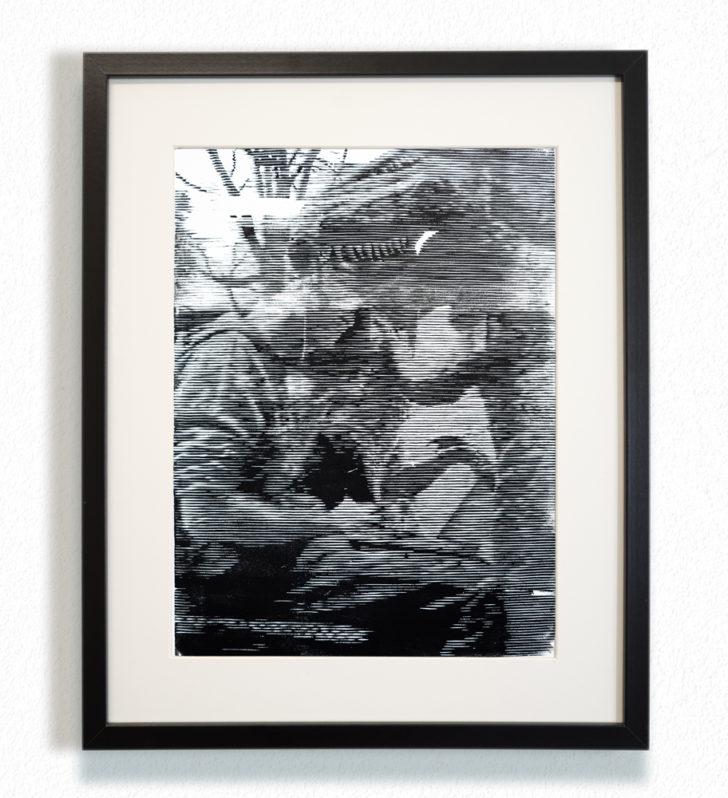 Franz Ehrenberg, Punkt exe, 30x40 cm, 2016, Holzschnitt