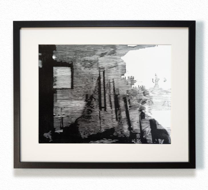 Franz Ehrenberg, Zen, 30x40 cm, 2016, Holzschnitt