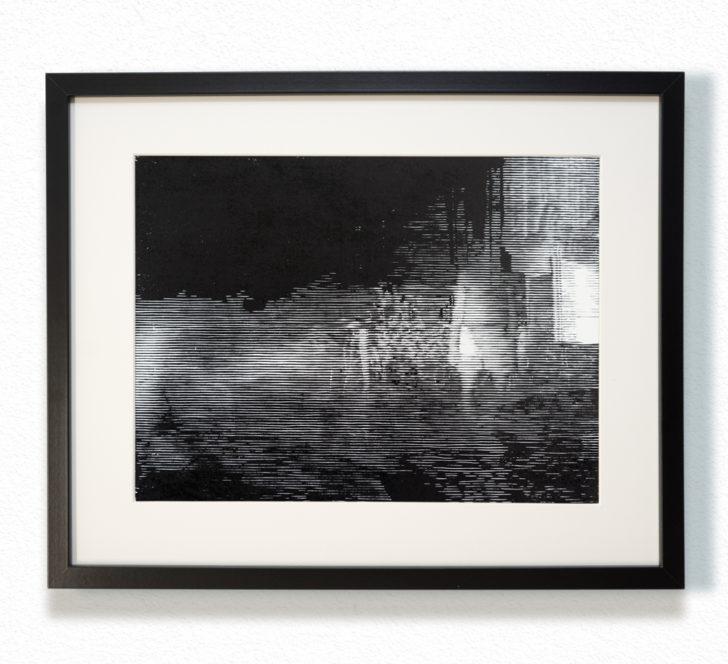 Franz Ehrenberg, Dunst, 30x40 cm, 2016, Holzschnitt
