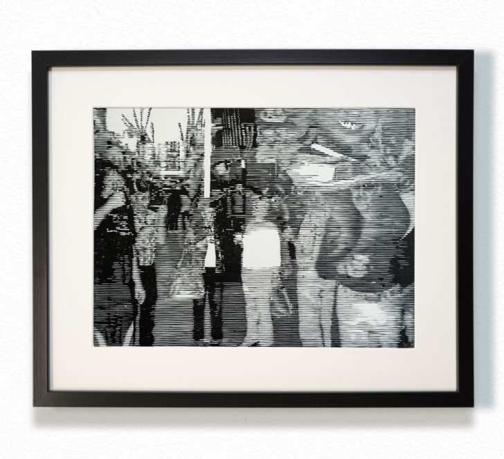 Franz Ehrenberg, Boulevard, 30x40 cm, 2016, Holzschnitt