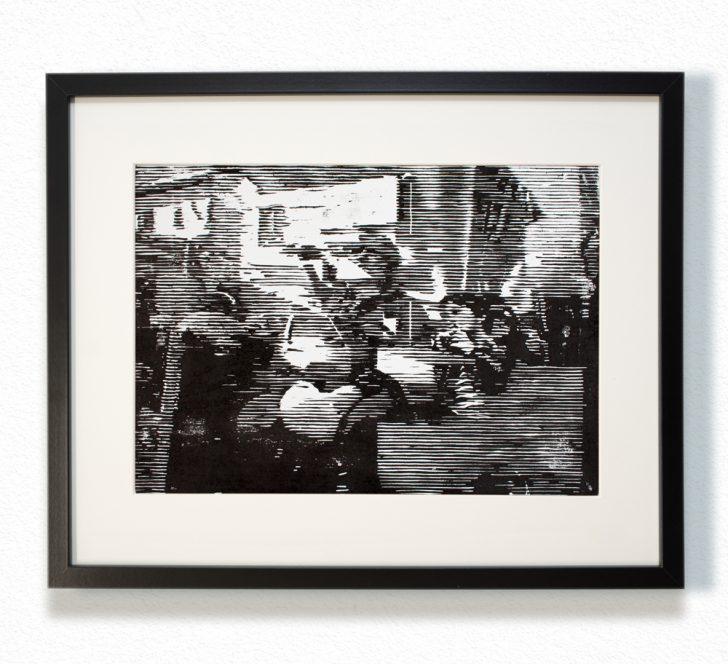Franz Ehrenberg, o.T., 30x22,5 cm, 2016, Holzschnitt