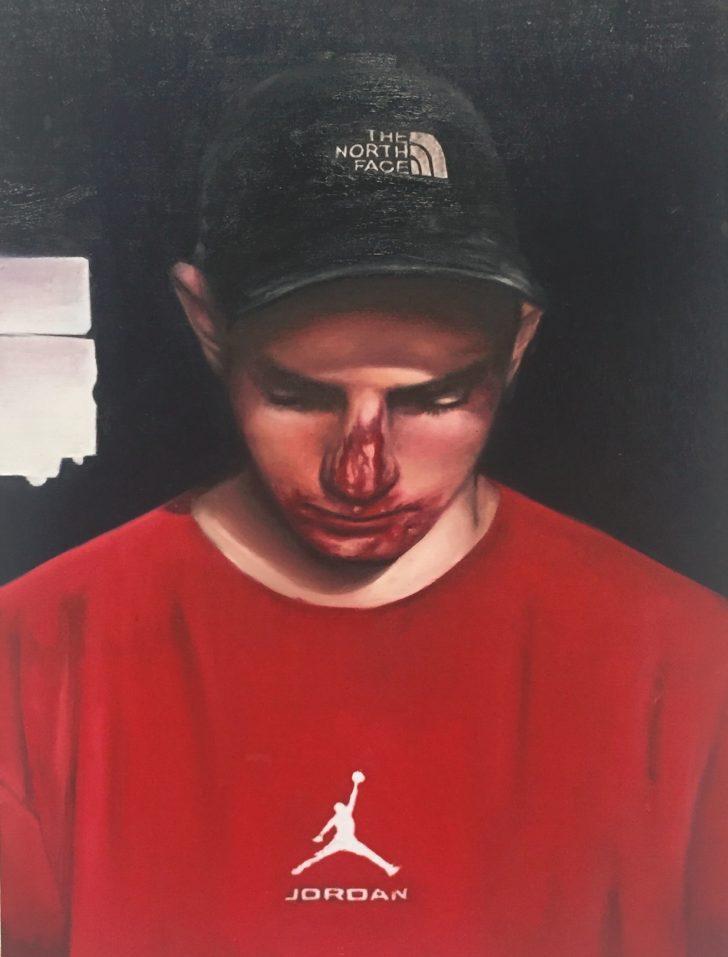 Michael Klipphahn, Skater, 40x30 cm, 2016, Öl auf Holz