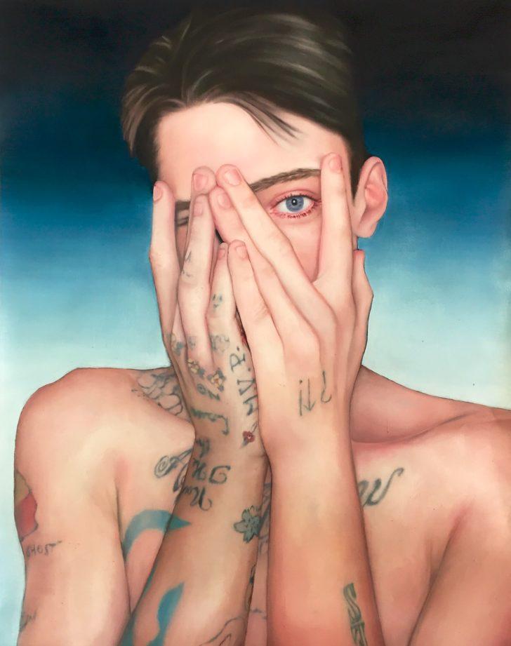 Tattoo5, 60x40cm, 2016, Oel auf Papier