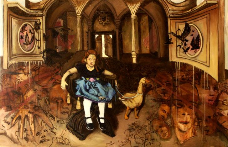Viktoria Graf, Das Jüngste Gericht, 100x160 cm, 2011, Öl auf Leinwand