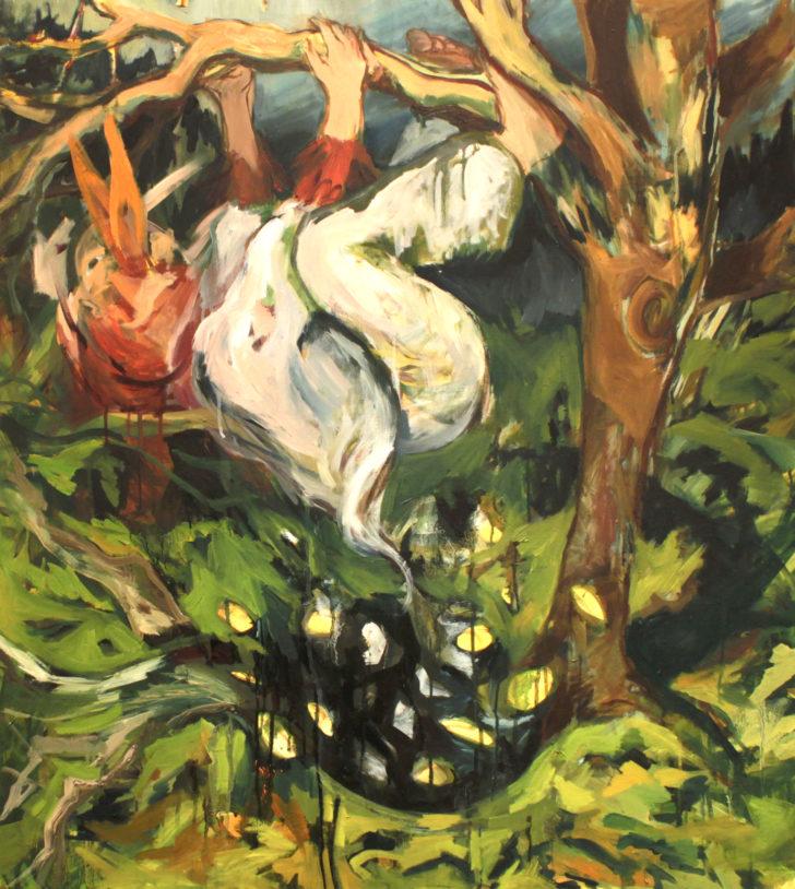 Viktoria Graf, Nichts, 110x100 cm, 2011, Öl auf Leinwand