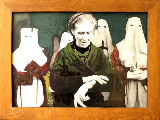 Viktoria Graf, Zeit, 2011, Öl auf Fotografie