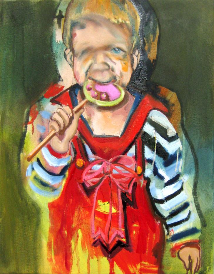 Viktoria Graf, Mein Dauerlutscher, 70x50 cm, 2012, Öl auf Leinwand