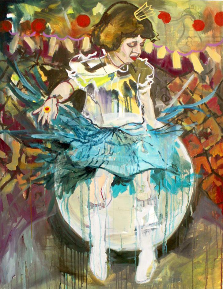 Viktoria Graf, Kreisel, 100x80 cm, 2012, Öl auf Leinwand