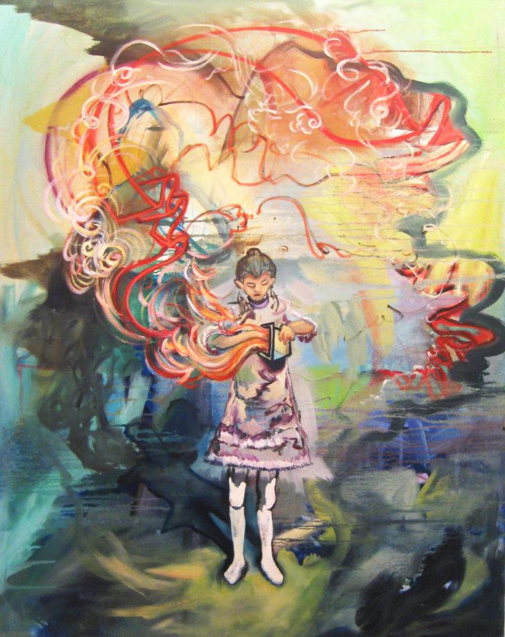 Viktoria Graf, Box, 100x80 cm, 2013, Öl auf Leinwand