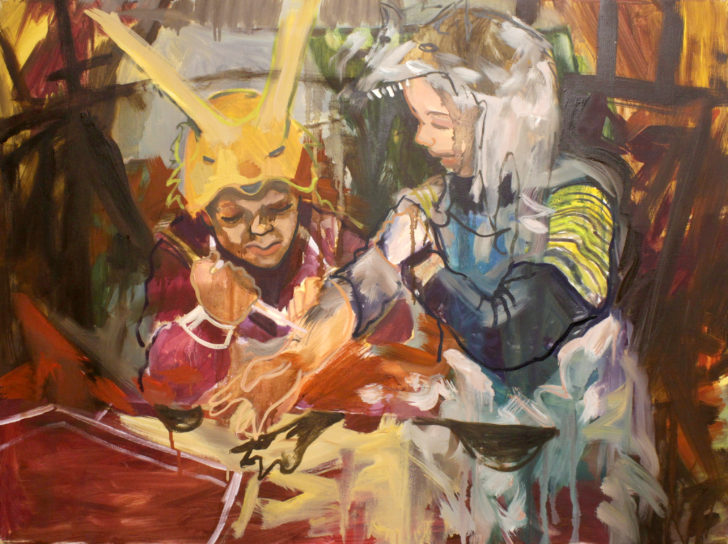 Viktoria Graf, Früh übt sich, 60x80 cm, 2013, Öl auf Leinwand