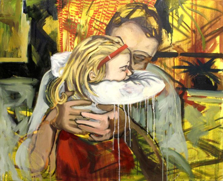 Viktoria Graf, Krampf, 73x60 cm, 2013, Öl auf Leinwand