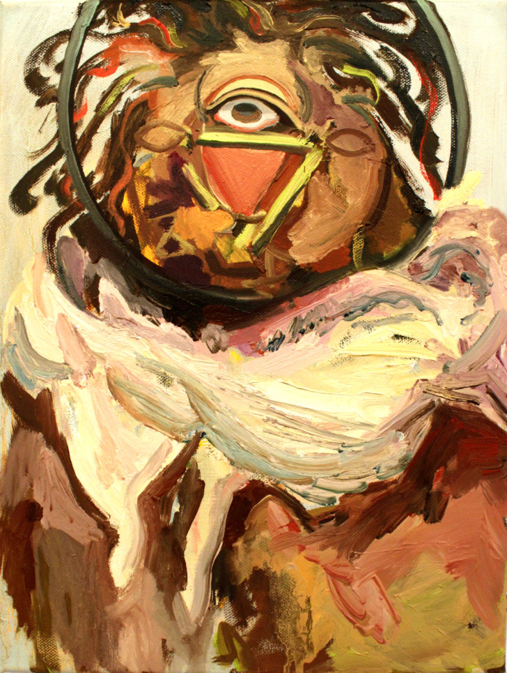 Viktoria Graf, Schakra, 40x30 cm, 2013, Öl auf Leinwand