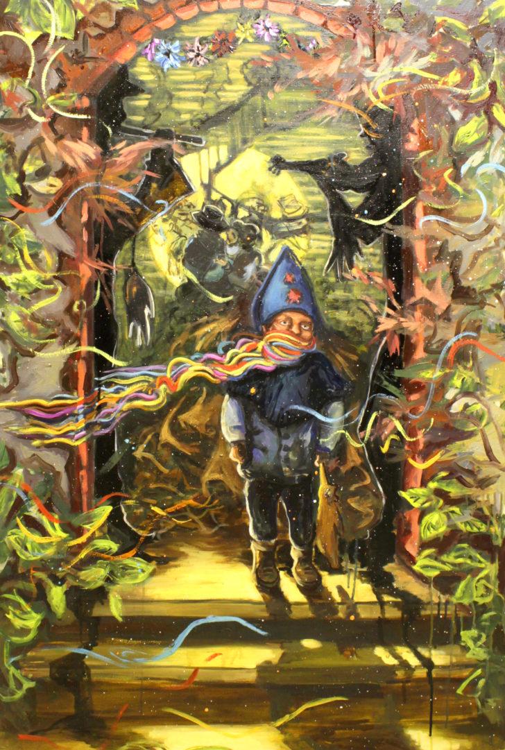 Viktoria Graf, Schlüsselkind, 100x70 cm, 2013, Öl auf Leinwand