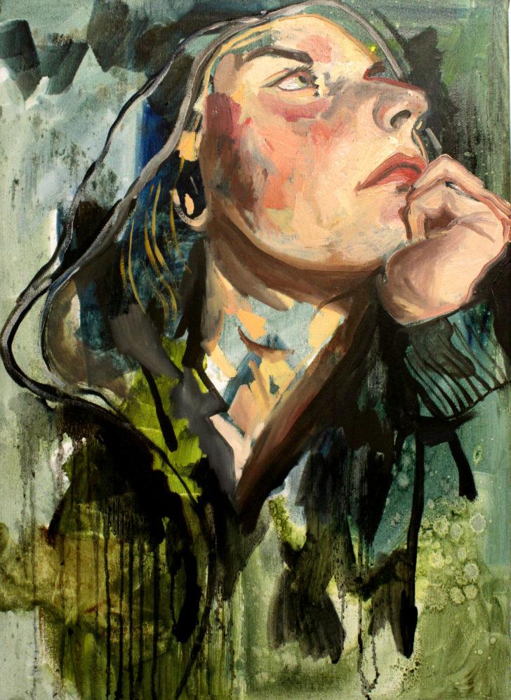 Viktoria Graf, Ich vorgestern, 50x40 cm, 2014, Öl auf Leinwand
