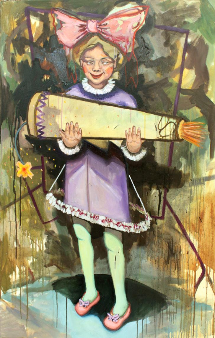 Viktoria Graf, Überraschung, 100x70 cm, 2015, Öl auf Leinwand