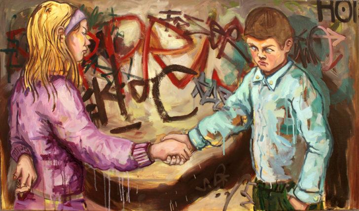 Viktoria Graf, Freundschaft, 70x100 cm, 2015, Öl auf Leinwand