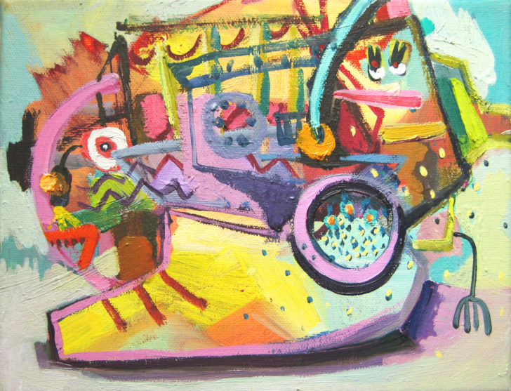 Viktoria Graf, Funny Games, 15x18 cm, 2015, Öl auf Leinwand