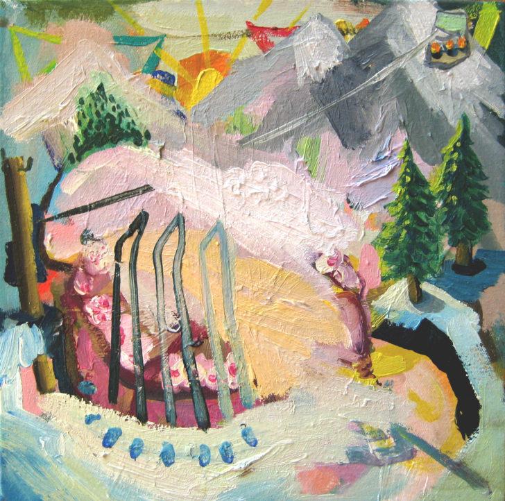 Viktoria Graf, Funny Games, 20x20 cm, 2015, Öl auf Leinwand