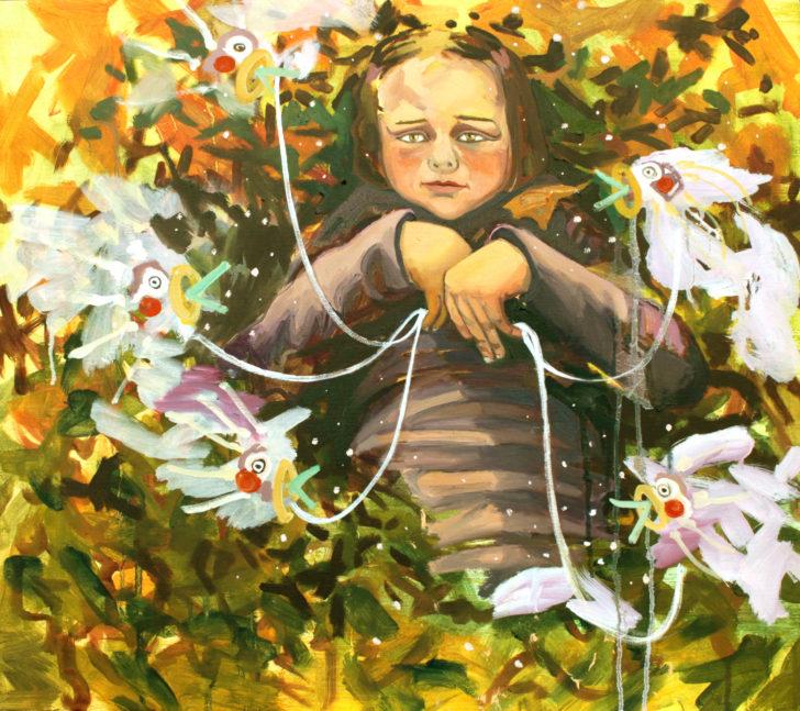 Viktoria Graf, Hope and Doubt, 65x75 cm, 2015, Öl auf Leinwand