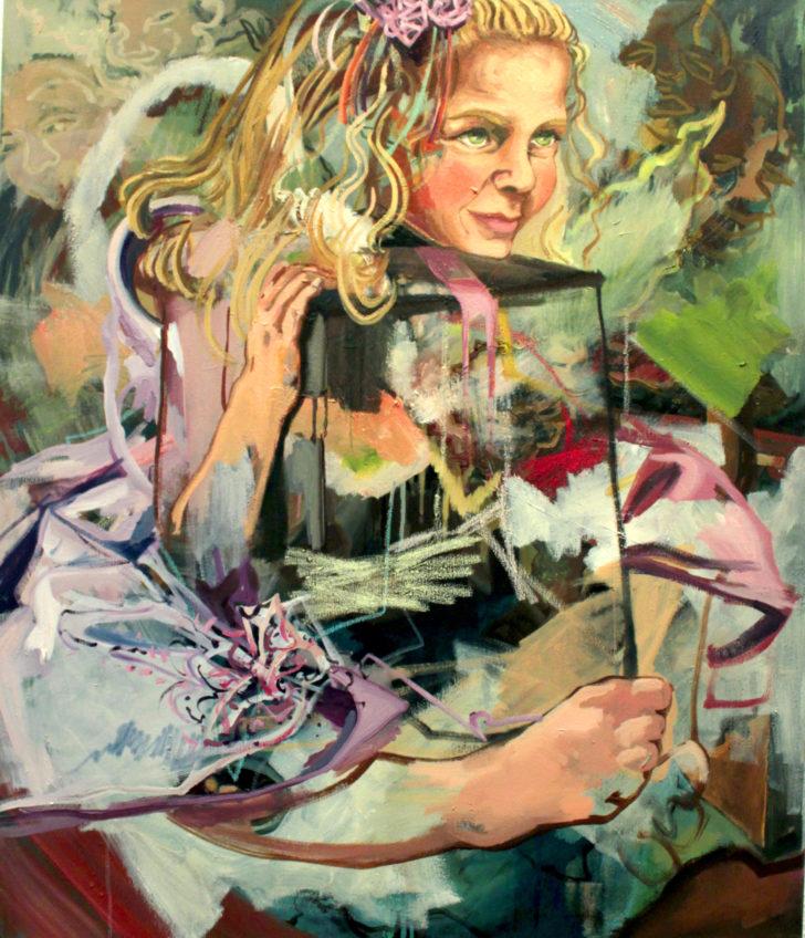 Viktoria Graf, Innen wie Außen, 80x70 cm, 2015, Öl auf Leinwand