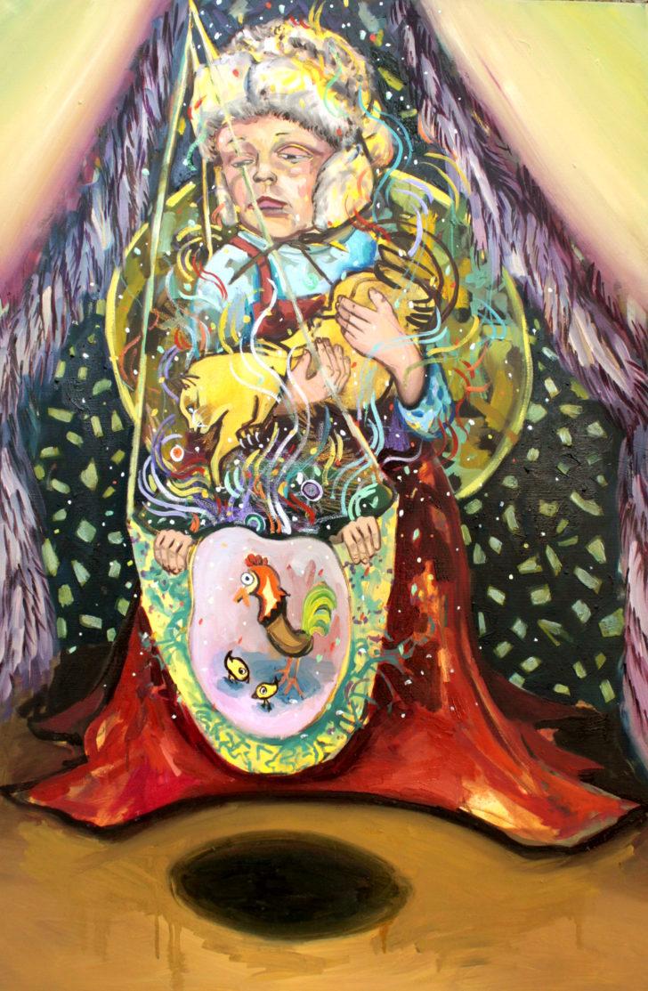 Viktoria Graf, Zaubertrunk, 100x70 cm, 2015, Öl auf Leinwand