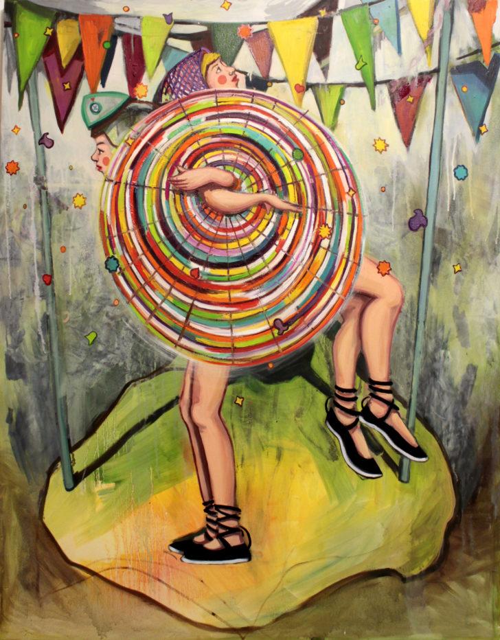 Viktoria Graf, Allin, 110x90 cm, 2016, Öl auf Leinwand