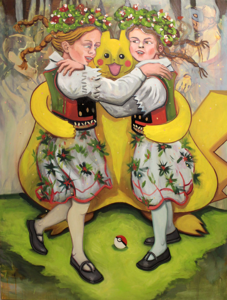 Viktoria Graf, Deep Dancing, 130x100 cm, 2016, Öl auf Leinwand