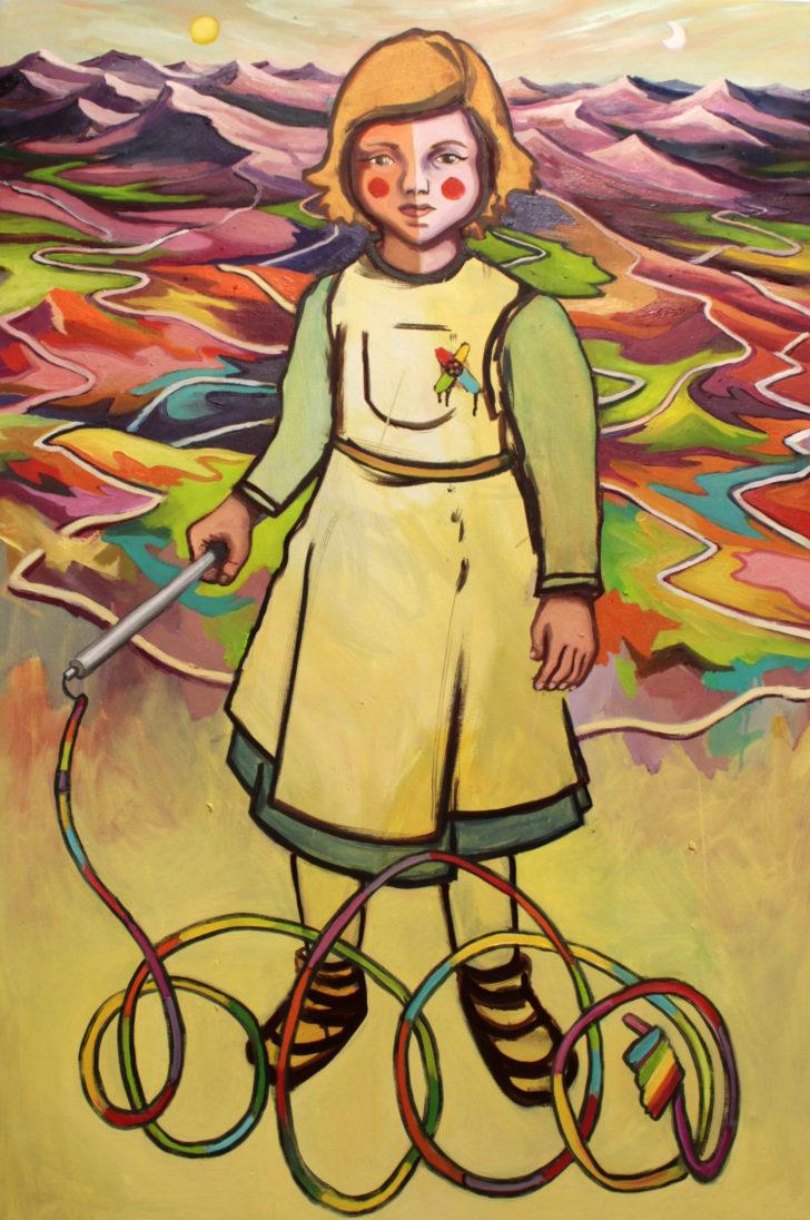 Viktoria Graf, Farbwüste, 110x70 cm, 2016, Öl auf Leinwand