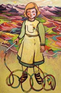 Viktoria Graf, GOAB die Farbenwüste, 2016, 110x70cm Oel auf Leinwand