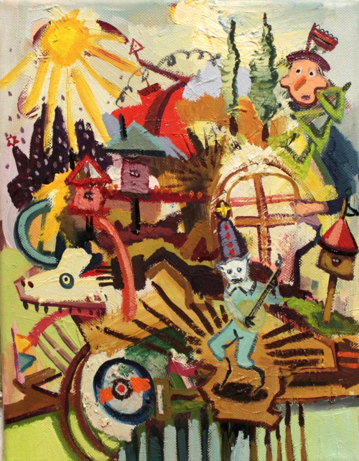 Viktoria Graf, Funny Games, 30x20 cm, 2016, Öl auf Leinwand