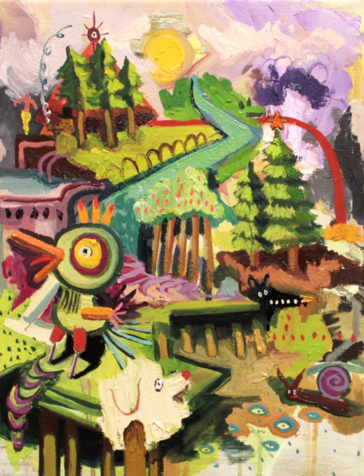 Viktoria Graf, Funny Games, 30x25 cm, 2016, Öl auf Leinwand