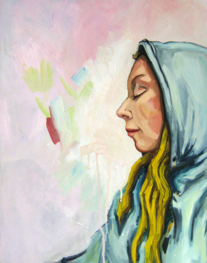 Viktoria Graf, Just Breathe, 50x40 cm, 2017, Öl auf Leinwand