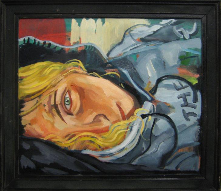 Viktoria Graf, The Northern Face, 45x50 cm, 2017, Öl auf Leinwand