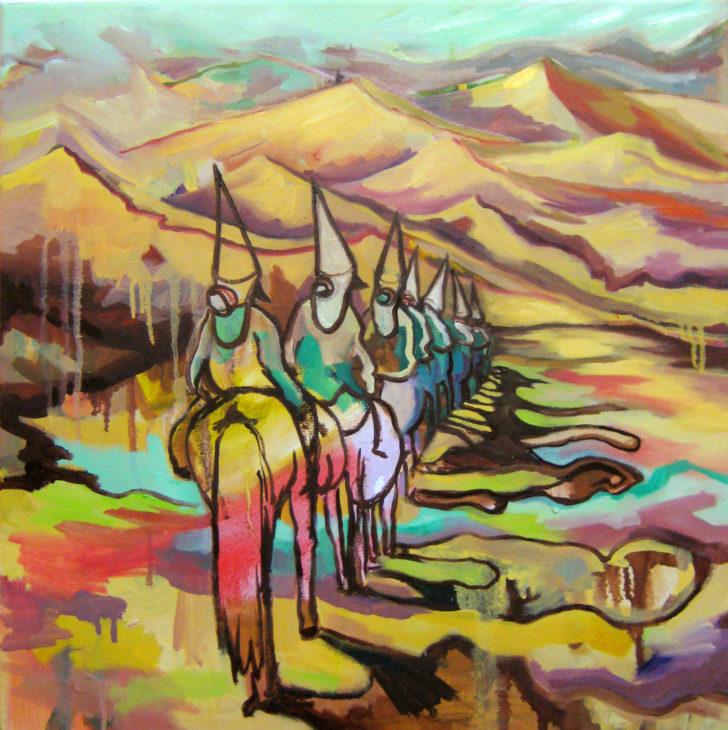 Viktoria Graf, Morgana, 50x50 cm, 2017, Öl auf Leinwand