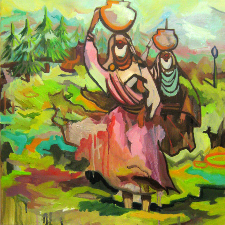 Viktoria Graf, Reserve, 50x50 cm, 2017, Öl auf Leinwand