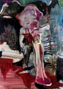 Rao Fu, Astroboy, 70x50 cm, 2017, Öl auf Papier