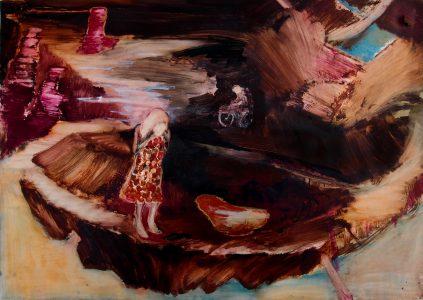 Rao Fu, circle way, 70x100 cm, 2016, Öl auf Papier