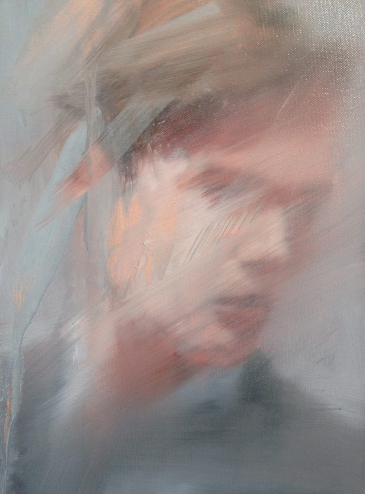 Sebastian Herzau, tgb-C.-I-14, 40x30 cm, 2014, Öl auf Leinwand