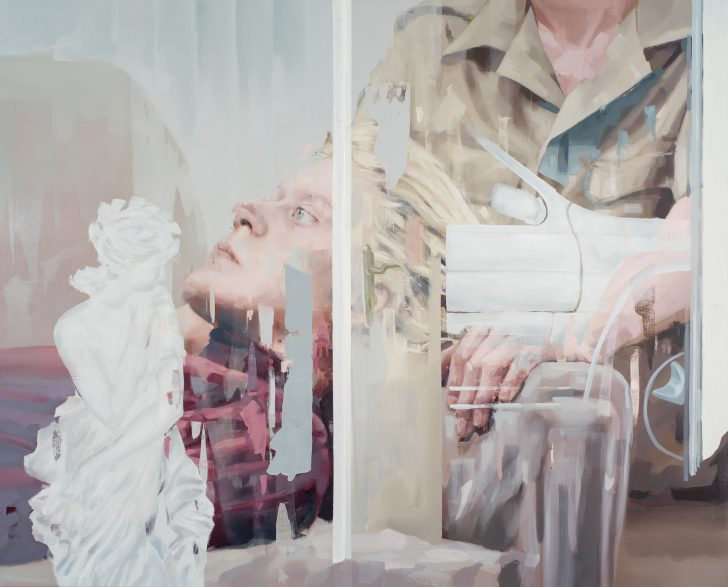 Franz Ehrenberg, Herr K, 155x125cm, 2017, Öl auf Leinwand