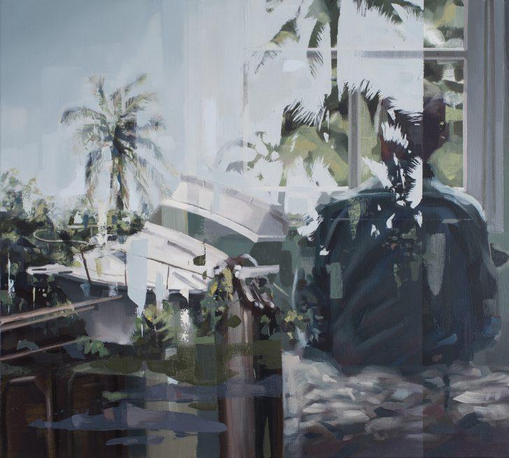 Franz Ehrenberg, Gestrandet, 69x62cm, 2017, Öl auf Leinwand