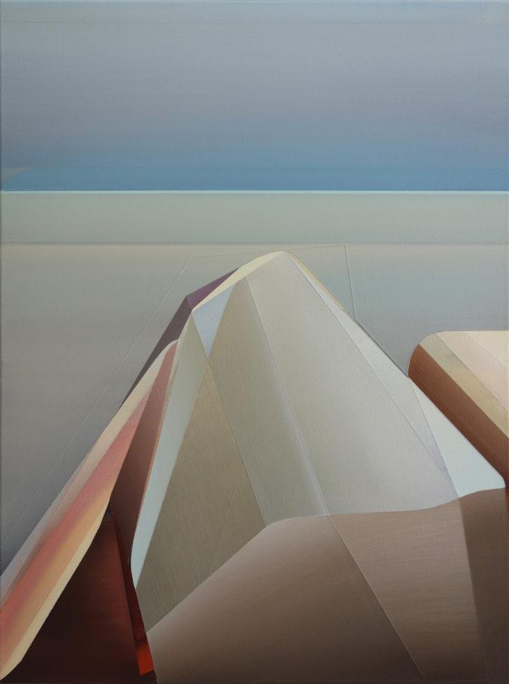 Marten Kirbach, Aussicht, 80x60 cm, 2016, Acryl auf Leinwand