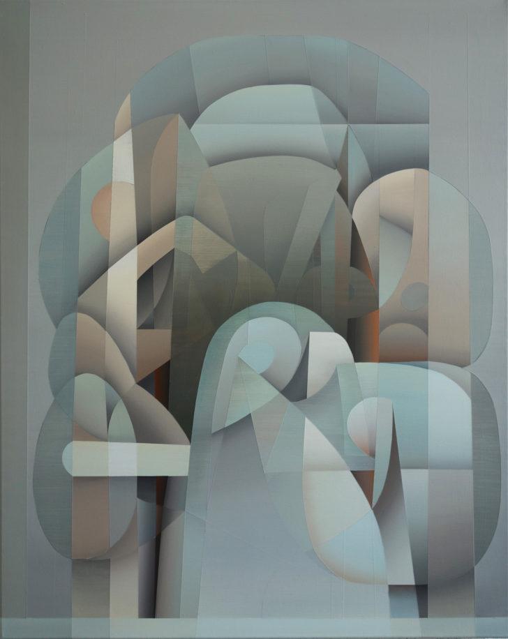 Marten Kirbach, o.T., 95x75 cm, 2017, Acryl auf Leinwand