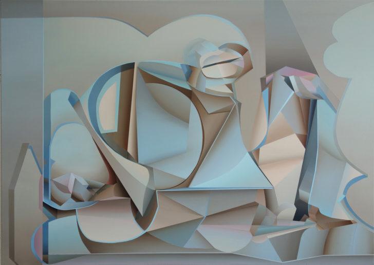 Marten Kirbach, o. T., 100x140 cm, 2017, Acryl auf Leinwand