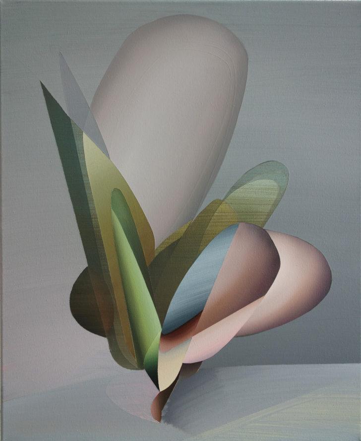 Marten Kirbach, Blüte, 55x45 cm, 2017, Acryl auf Leinwand