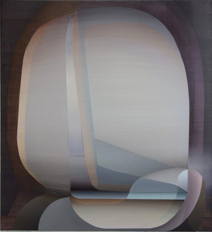 Marten Kirbach, o.T., 65x60 cm, 2017, Acryl auf Leinwand