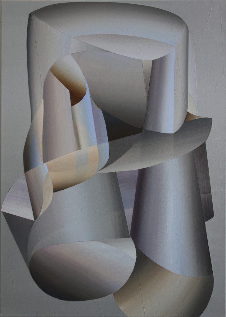 Marten Kirbach, My favourite robot, 70x50 cm, 2014, Acryl auf Leinwand