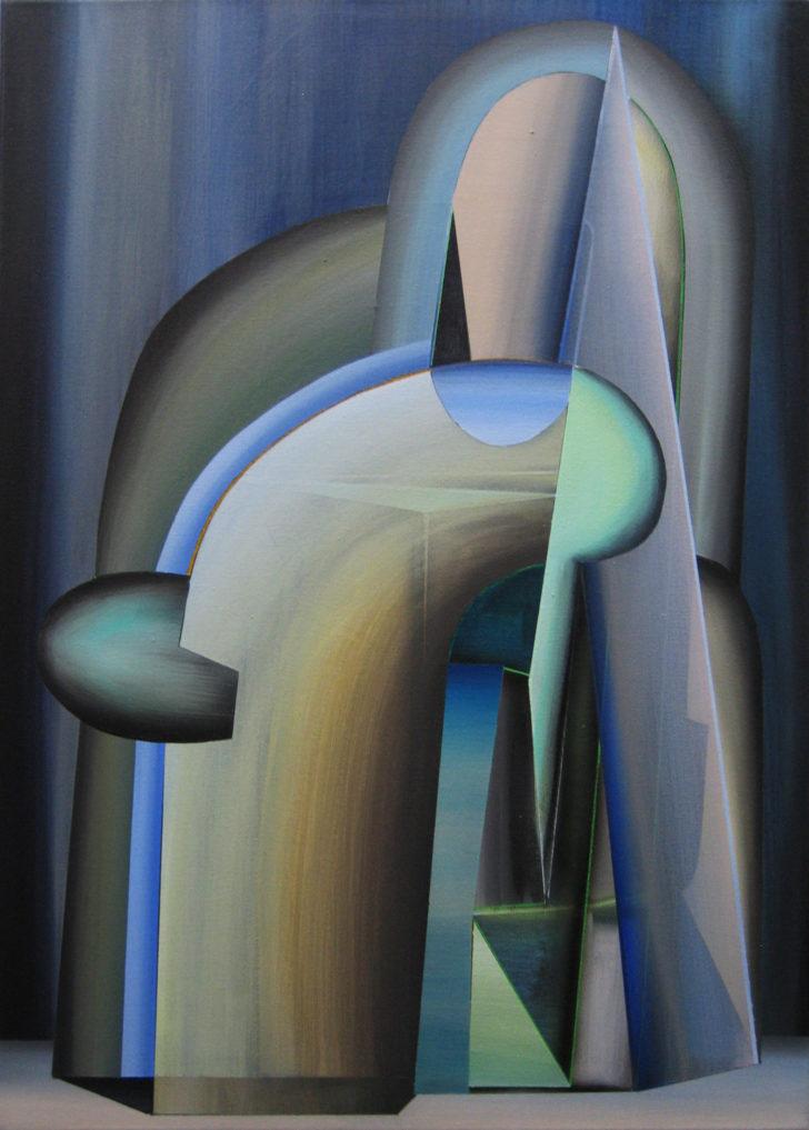 Marten Kirbach, Gestalt II, 70x50 cm, 2014, Acryl auf Leinwand