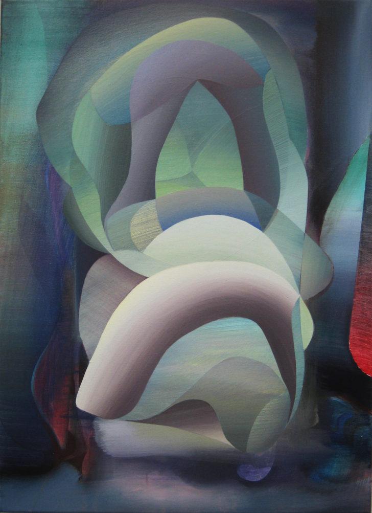 Marten Kirbach, o.T., 70x50 cm, 2015, Acryl auf Leinwand