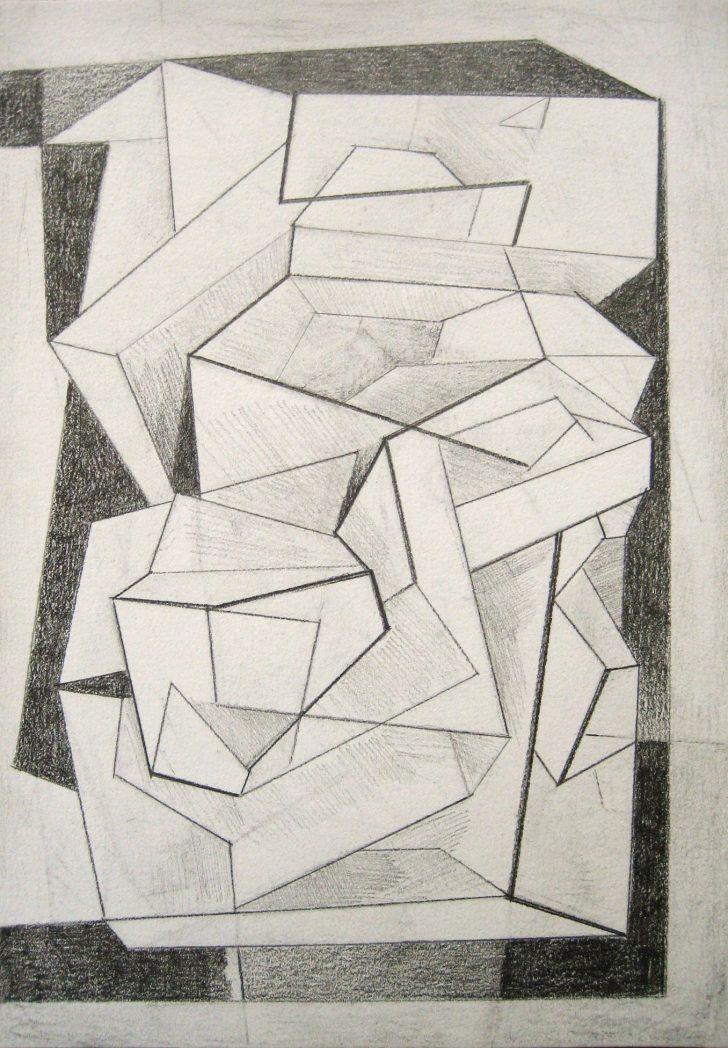Marten Kirbach, Raumrhythmus II, 21x14,8 cm, 2013, Graphit auf Papier