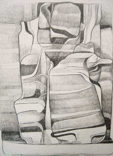 Marten Kirbach, Schmelze, 29,5x21 cm, 2013, Graphit auf Papier